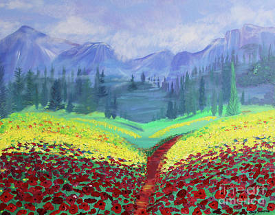 Painting - Tuscan Poppies by Stacey Zimmerman