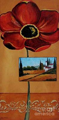 Photograph - Tuscan Poppy Postcard by Italian Art