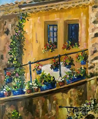 Painting - Tuscan Porch by Patsy Walton