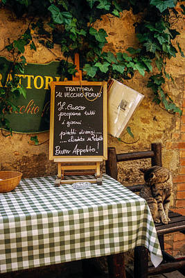 Trattoria Photograph - Tuscan Restaurant Patron by Andrew Soundarajan