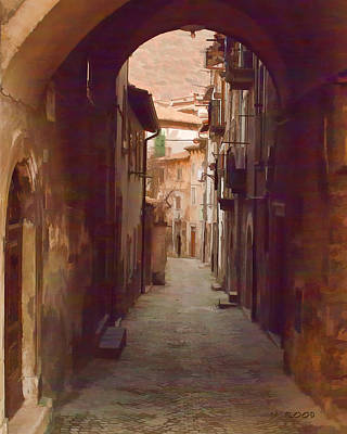 Art Print featuring the photograph Tuscan Side Street by Michael Flood