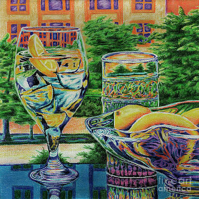 Drawing - Tuscan Summer Lemonade  by Peter Piatt