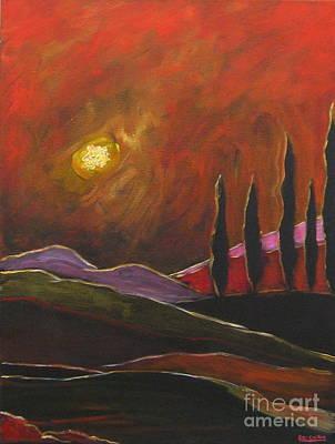 Tuscan Sunset Rage Art Print