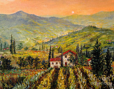 Painting - Tuscan Twilght by Lou Ann Bagnall