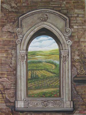 Tuscan View Art Print by Diann Baggett