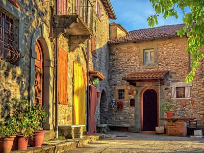 Photograph - Tuscan Villa Early Morning by Dominic Piperata