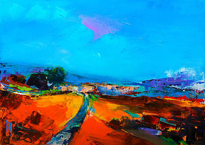 Painting - Tuscan Village by Elise Palmigiani