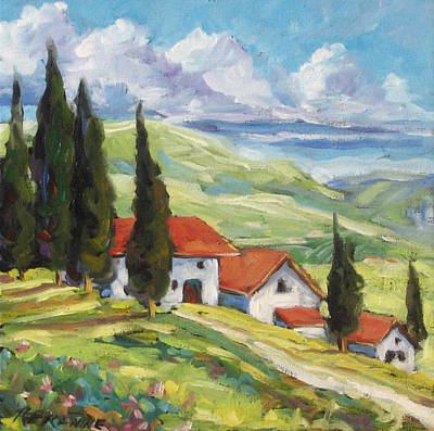 Walter Pranke Painting - Tuscan Villas by Richard T Pranke