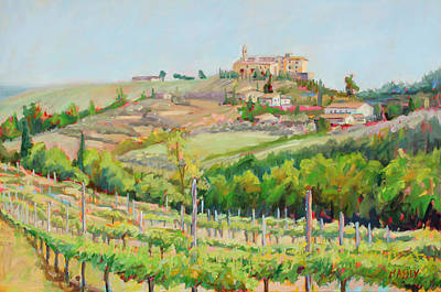 San Gimignano Painting - Tuscan Vines by Marie Massey