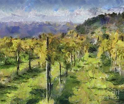 Vineyard Painting - Tuscan Vineyards by Dragica Micki Fortuna