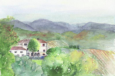 Painting - Tuscan Vineyards by Marsha Karle
