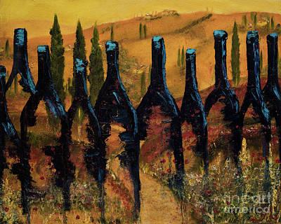 Italian Wine Painting - Tuscan Vino by Jodi Monahan