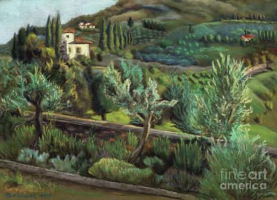 Pastel - Tuscan Vista by Kelly Borsheim