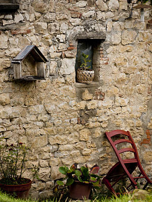 Greve In Chianti Photograph - Tuscan Wall by Rae Tucker