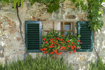 Photograph - Tuscan Window by Gary Lengyel