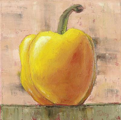 Pepper Painting - Tuscan Yellow Pepper by Pam Talley