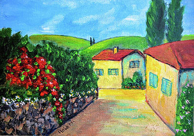 Painting - Tuscany Alley by Haleh Mahbod