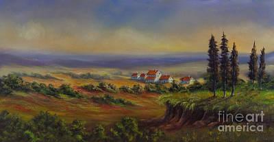 Tuscany At Dusk Original by Charlotte Blanchard