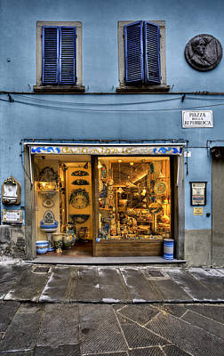 Photograph - Tuscany Ceramic Shop Cortona by Al Hurley