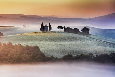 Tuscany Church On The Hill Art Print by Evgeni Dinev