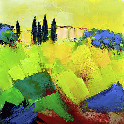 Tuscan Sunset Painting - Tuscany Colors by Elise Palmigiani