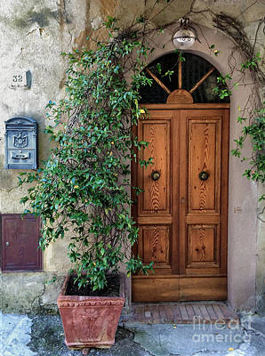 Digital Art - Tuscany Door by Laurel D Rund