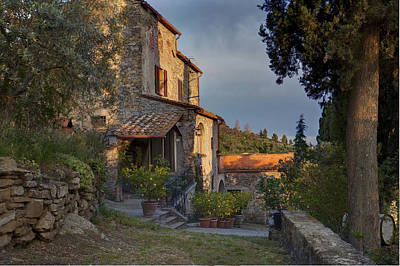 Tuscan Dusk Photograph - Tuscany Farmhouse  by Al Hurley