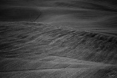Photograph - Tuscany Fields Bw by Ivan Slosar
