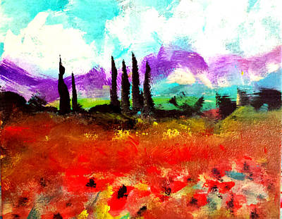 Painting - Tuscany Fields by Nikki Dalton