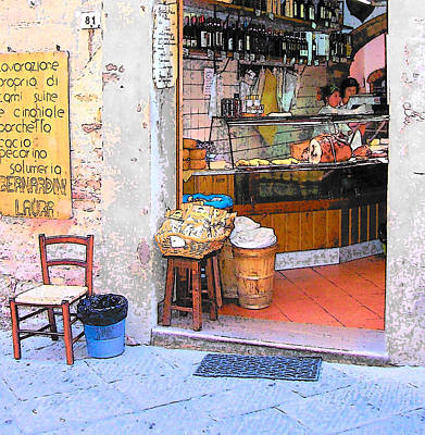 Scenes Of Italy Painting - Tuscany - Gourmet Shop by Jan Matson