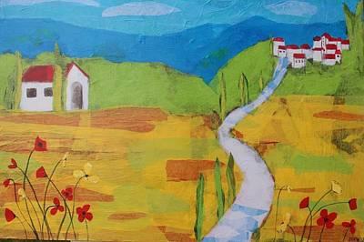 Italian Wine Painting - Tuscany by Jennifer Whitworth