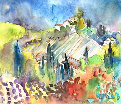 Tuscany Drawing - Tuscany Landscape 03 by Miki De Goodaboom