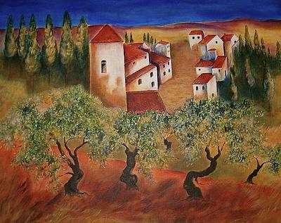 Photograph - Tuscany Landscape by Elizabeth Hoare Gregory