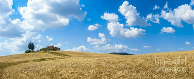 Photograph - Tuscany Landscape With The Town Of Pienza by JR Photography