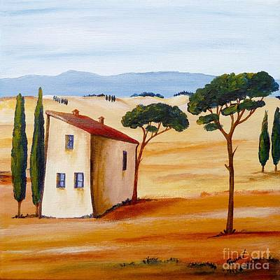 Tuscan Hills Painting - Tuscany Modern 2 by Christine Huwer