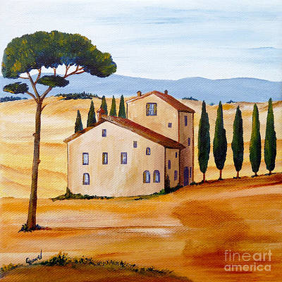 Tuscan Hills Painting - Tuscany Modern 1 by Christine Huwer