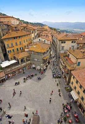 Photograph - Tuscany Piazza Cortona by Al Hurley