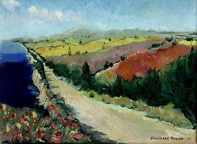 Tuscan Hills Painting - Tuscany Road by Rosemary Babikan