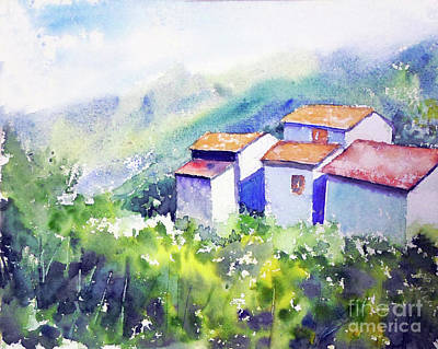 Painting - Tuscany Roofs by Asha Sudhaker Shenoy