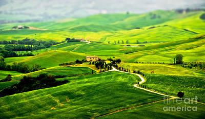 Tuscany S Green Scapes Art Print by Alessandro Giorgi Art Photography