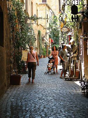Photograph - Tuscany Street Scene by Diane Height