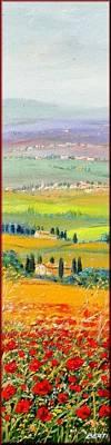 A Summer Evening Painting - Tuscany Summer by Antonio Berti