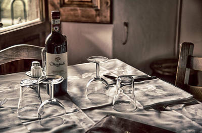 Photograph - Tuscany Table 2 by Kathy Adams Clark