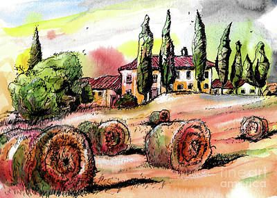 Painting - Tuscany by Terry Banderas