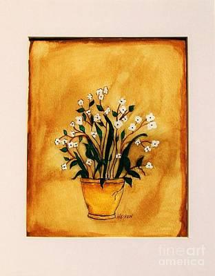 Print Like Painting - Tuscany Tiny White Flowers by Marsha Heiken