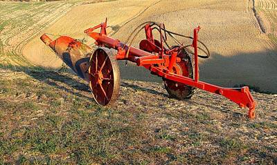 Photograph - Tuscany Tractor by Diane Height