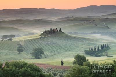 With Red Photograph - Tuscany by Tuscany