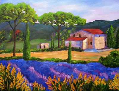 Tuscany Villa Art Print by Mary Jo Zorad