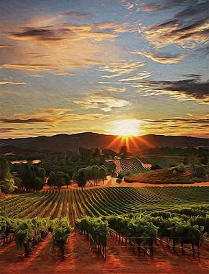 Painting - Tuscany Vineyards - 01 by Andrea Mazzocchetti