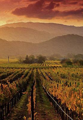 Painting - Tuscany Vineyards - 02  by Andrea Mazzocchetti